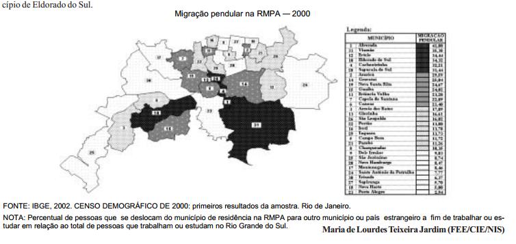 A migração pendular na Região Metropolitana de Porto Alegre